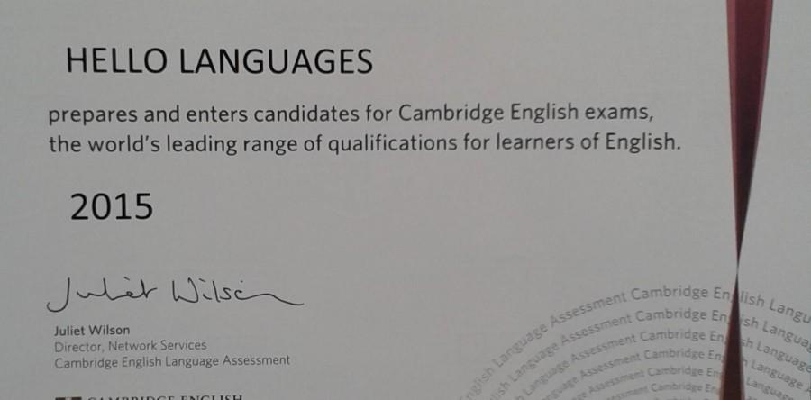 Recibimos la certificación del British Council